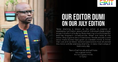 DUMI ON OUR JULY ISSUE