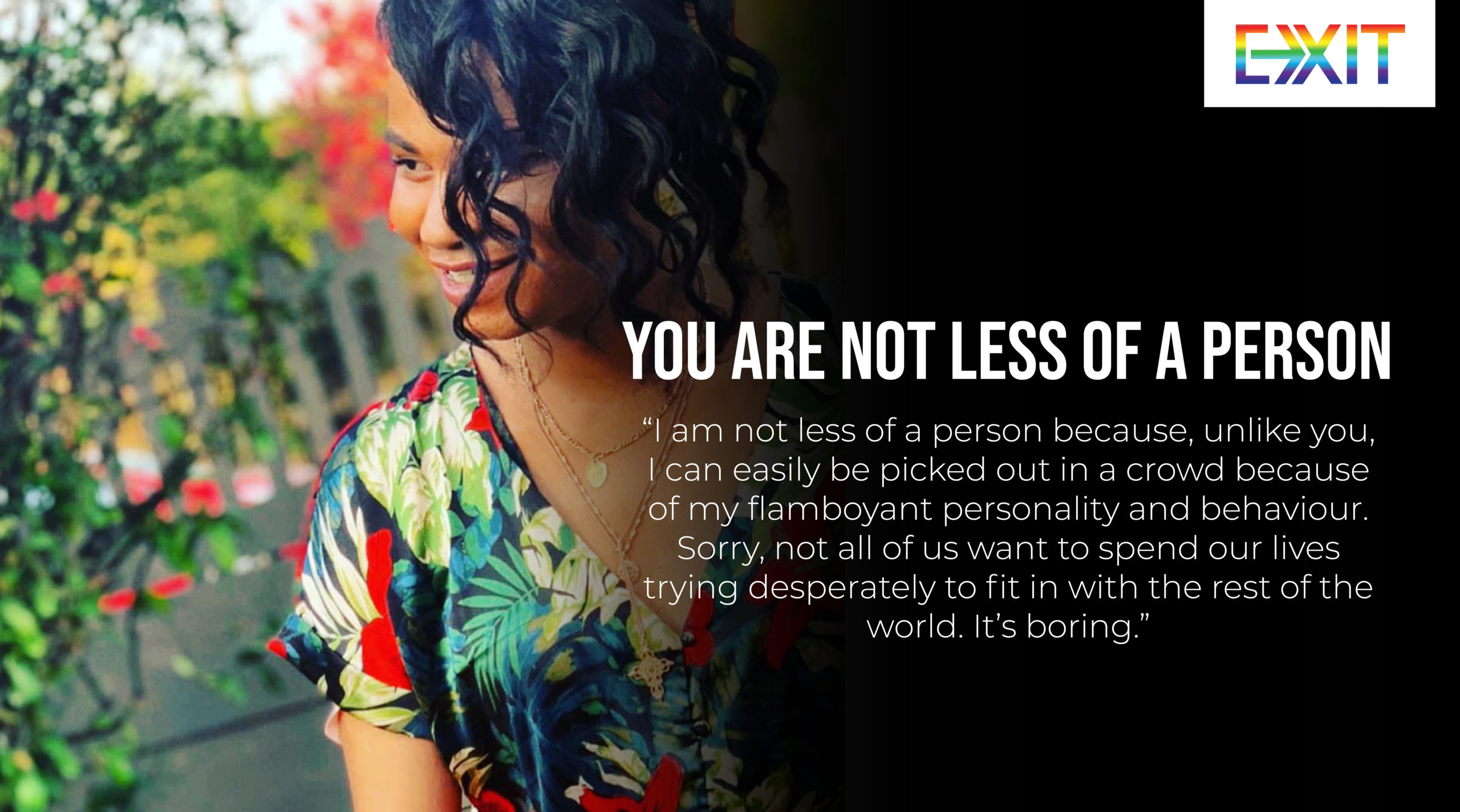 YOU ARE NOT LESS OF A PERSON