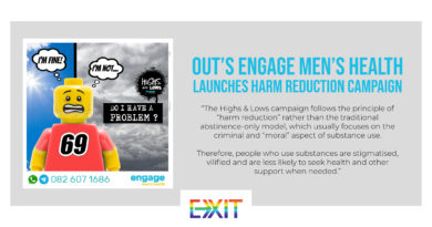 OUT'S ENGAGE MEN'S HEALTH LAUNCHES HARM REDUCTION CAMPAIGN